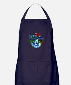 Island Time Parrot Apron (dark)