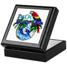 Island Time Parrot Keepsake Box