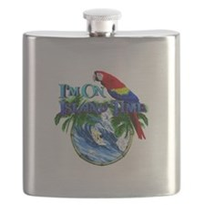 Island Time Parrot Flask