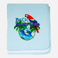 Island Time Parrot baby blanket