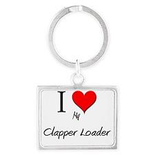 Clapper-Loader145 Landscape Keychain