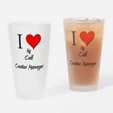 Call-Center-Manager42 Drinking Glass