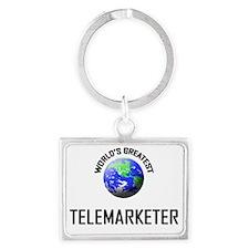 TELEMARKETER37 Landscape Keychain