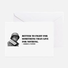 Patton Quote - Die Greeting Cards (Pk of 10)
