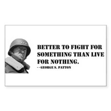 Patton Quote - Die Rectangle Decal