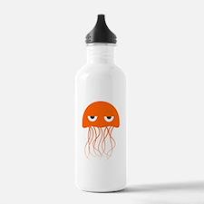 Orange Jellyfish Sports Water Bottle