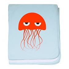 Orange Jellyfish baby blanket