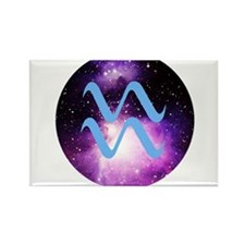 Aquarius Symbol Rectangle Magnet