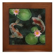 Koi Framed Tile