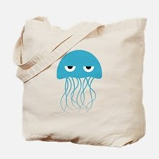 Light Blue Jellyfish Tote Bag