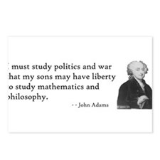 John Adams Quotes - Study War Postcards (Package o