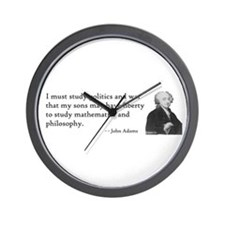 John Adams Quotes - Study War Wall Clock