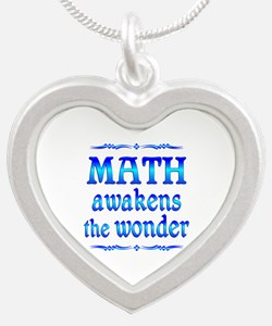 Math Awakens Silver Heart Necklace