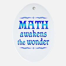 Math Awakens Ornament (Oval)