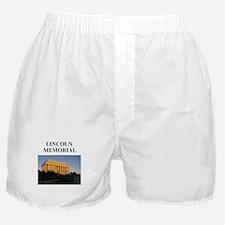 lincoln memorial washington g Boxer Shorts