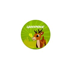 Green Rudolph Mini Button (10 pack)