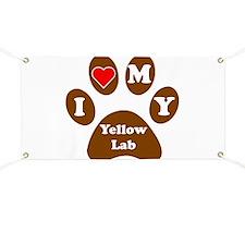 I Heart My Yellow Lab Banner