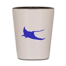 Blue Sting Ray Shot Glass