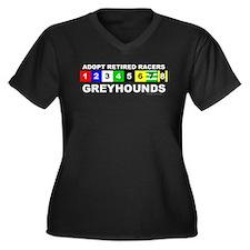 adopt retired racing greyhounds Plus Size T-Shirt