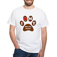 I Heart My Wire Fox Terrier T-Shirt