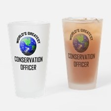CONSERVATION-OFFICER38 Drinking Glass