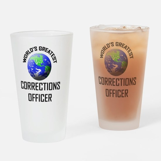 CORRECTIONS-OFFICER115 Drinking Glass