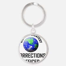 CORRECTIONS-OFFICER115 Round Keychain