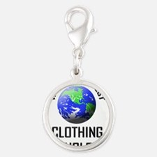 CLOTHING-TECHNOLOGIS5 Silver Round Charm