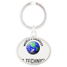 CAD-TECHNICIAN143 Oval Keychain