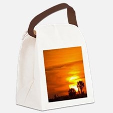 Sunset on Fire Canvas Lunch Bag