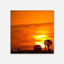 "Sunset on Fire Square Sticker 3"" x 3"""