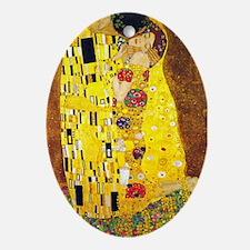 The Kiss, Klimt, Vintage Painting Ornament (Oval)
