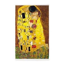 The Kiss, Klimt, Vintage Painting 3'x5' Area Rug