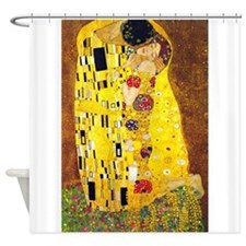 The Kiss, Klimt, Vintage Painting Shower Curtain