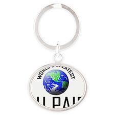 AU-PAIR125 Oval Keychain