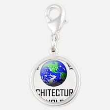 ARCHITECTURAL-TECHNO78 Silver Round Charm