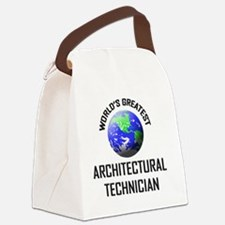 ARCHITECTURAL-TECHNI3 Canvas Lunch Bag