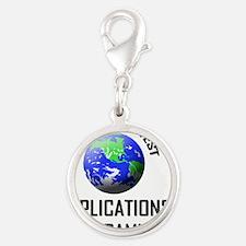 APPLICATIONS-PROGRAM46 Silver Round Charm