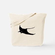 Black Sting Ray Tote Bag