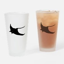 Black Sting Ray Drinking Glass