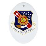 114th FW Ornament (Oval)