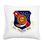 114th FW Square Canvas Pillow