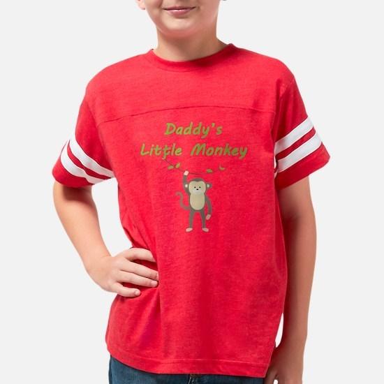 Daddys Little Monkey Youth Football Shirt