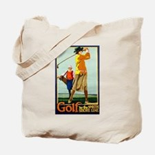 Golf, Lady, North Shore Line, Vintage Poster Tote