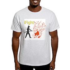 iFight Firefighter Ash Grey T-Shirt
