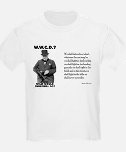What Would Churchill Do - Never Surrender Kids T-S
