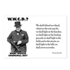 What Would Churchill Do - Never Surrender Postcard