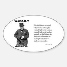 What Would Churchill Do - Never Surrender Decal