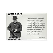 What Would Churchill Do - Never Surrender Rectangl