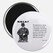 What Would Churchill Do - Never Surrender Magnet